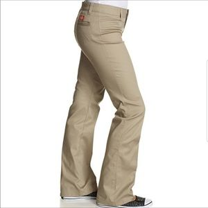 Dickies flare tan jeans size 5 juniors